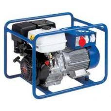 Ģenerators 220/380 V, degvielas pateriņš 2.0l/st. Svars 80 kg, ģenerators uz riteņiem